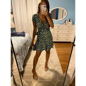 Green Clover Wrap Dress